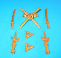 Lego Ninjago Waffe Drachen Schwert Samurai Säbel Spinjitzu Wurfstern Gold Ninja
