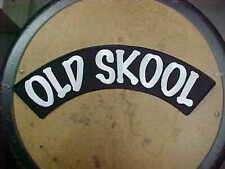 """Old Skool"" Giant Patch For Back Of Jacket Low Brow Kustom Rat Rod Biker Mint!"
