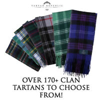 NEW QUALITY WOOL SCOTTISH HIGHLAND TARTAN CLAN SCARF IN OVER 170 TARTANS!