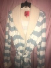 VICTORIAS SECRET Soft Plush  Robe  BATHROBE Striped Sleep Size Extra Large