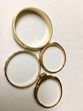 Assortment of 4 Vintage  14kt Gold Bands or Rings