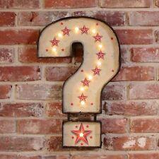 Punto interrogativo, accendere LAMPADINA LED CARNEVALE Sign Wall Art CIRCO CAMERA DA LETTO SALOTTO