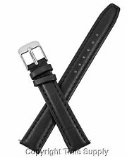 16 mm BLACK CALF LEATHER PADDED WATCH BAND / STRAP NEW