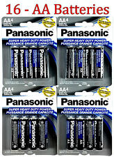 16 Wholesale Panasonic AA Double A Batteries heavy Duty Battery 1.5v Bulk lot