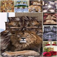Duvet Cover Sets 3D Animal Print Bedding Pillow Cases King Sizes Double
