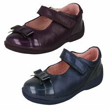 Girls Purple / Navy Leather Startrite Shoes : Super Soft Bow