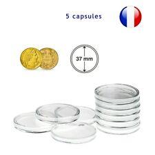 5 Capsules pour monnaie 37 mm intérieur - Protection pièce de monnaie