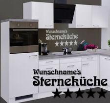 Küchenaufkleber Sterneküche Sternekoch Wunschname kitchen cuisine decal 24 #8382