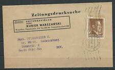 Generalgouvernement Zeitungsdrucksache Kurier Warszawski Warschau, 1942