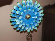 3D Metal Flower Wind Chime Garden Decoration Porch Patio ~- New ~ Blue Green Tip
