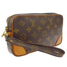 LOUIS VUITTON MARLY DRAGONNE PM CLUCTH HAND BAG PURSE MONOGRAM be M51827 A52778