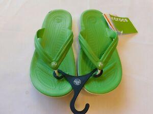 Crocs Crocband Flip Flops sandals M5 W7 Relaxed Men's Women's Lime Green NWT