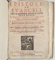 REMIGIO FIORENTINO EPISTOLE ET EVANGELI 1736 REMONDINI VANGELO GOSPEL 76 INCISI