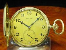 Zenith 14kt 585 Gold Savonette Sprungdeckel Taschenuhr
