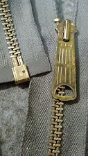 "1-ZIPPER USA Vtg""TALON BELL LONG-TAB""Jacket/Separating#5Metal BRASS21""COTTON/GAB"