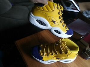 Allen Iverson question all star (blue and yellow) size 11.5 Great condition used