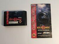Mortal Kombat II 2 (Sega Genesis, 1993) Game and Manual, No Case