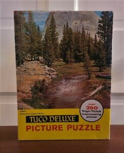 Vintage Tuco wood jigsaw puzzle. Very Rare. Unopened.
