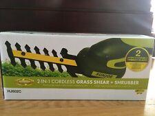 SUNJOE HJ602C 2-in-1 cordless grass shear+ shrubber- green