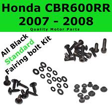 Black Fairing Bolt Kit body screws fasteners for Honda CBR 600 RR 2007 - 2008