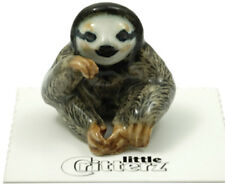 ➸ LITTLE CRITTERZ Wild Animal Miniature Figurine Sloth Three Toed Buttermilk