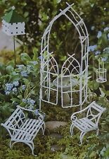 7+ PCS Willow Mini Fairy Garden Set Miniature Furniture Dollhouse Kit Bird
