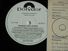 SWINGIN' BACH GUITAR - LP 1964 Polydor Promo Archiv-Copy mint