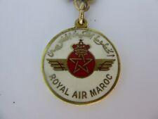 RARE Porte-Clés / Key Ring Royal Air Maroc AVION / PLANE / AIRLINE COMPANY TOP