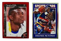 (2) Dikembe Mutombo Odd-Ball Trading Card Lot