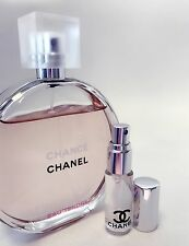 CHANEL CHANCE Eau Tendre Toilette EDT Perfume Glass Spray Travel SAMPLE ~ 5ml
