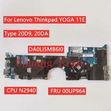 Original Lenovo Thinkpad YOGA 11E Motherboard N2940 Touch 00UP964 00HT259