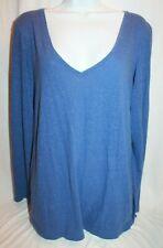 Victoria's Secret Women's L/S V-Neckline Blue Pajama Shirt Top XL X-Large