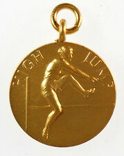 Great Britain, sports. WOMEN'S HIGH JUMP. By Pinches gilt-bronze 25mm