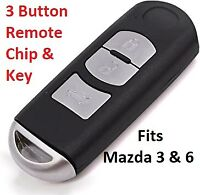Smart Key and Remote Mazda 3 6 CX-3 CX-5 CX-9 2012-2020 NEW fits 2 & 3 button