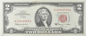 Crisp 1963-A Red Seal $2 United States Note - Better Grade *849