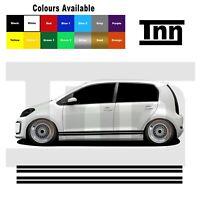 Side Stripe Stickers Vinyl Decals Graphics For VW Up! UP Skoda Citigo Seat Mii