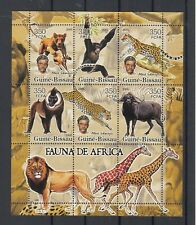 Guinea 2005, Sheet of 6+3 labels, Wild animals