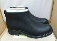 Clarks 'Orinoco Snug' Leather Ankle Boots - Faux Fur Lining - Black - UK 6D
