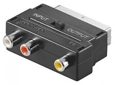 SCART-STECKER MIT IN/OUT ADAPTER UMSCHALTER CINCH-RCA