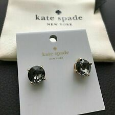 Authentic Kate Spade New York Black Diamond Gumdrop Studs With Dust Cover
