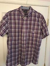 Chap's Ralph Lauren Easy Care Purple/Black/White S/S XL Shirt