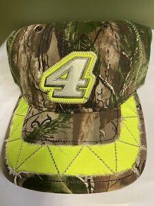 Kevin Harvick #4 Nascar Ladies Realtree Hat Camo/Green Adjustable