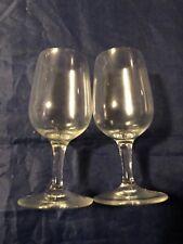Vintage Long Stem Shot Glasses- Champagne Shape- Set Of 2- 4 Inches