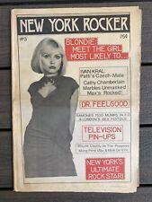 NEW YORK ROCKER #3 1976 Blondie PUNK Magazine Newspaper