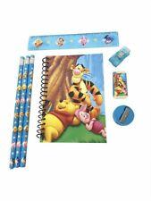 Stationery Set - Winnie the Pooh - Blue - 6pc Favor Set