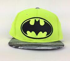 NEW Marvel Comics Batman Logo Neon Yellow Fluorescent Snapback Hat Cap One Size