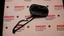 Specchietto moto destro dx DPM anodizzato nero Ducati Honda Yamaha