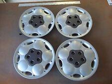 """1995 95 96 Dodge Neon Hubcap Rim Wheel Cover Hub Cap 14"""" OEM USED SILVER 502 SET"""