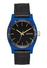 Nixon Medium Time Teller Leather , 31 mm, Navy / Mix, Armbanduhr, A1172-2709