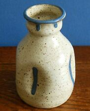 A indented stoneware bottle vase by Bob Park Culloden Pottery